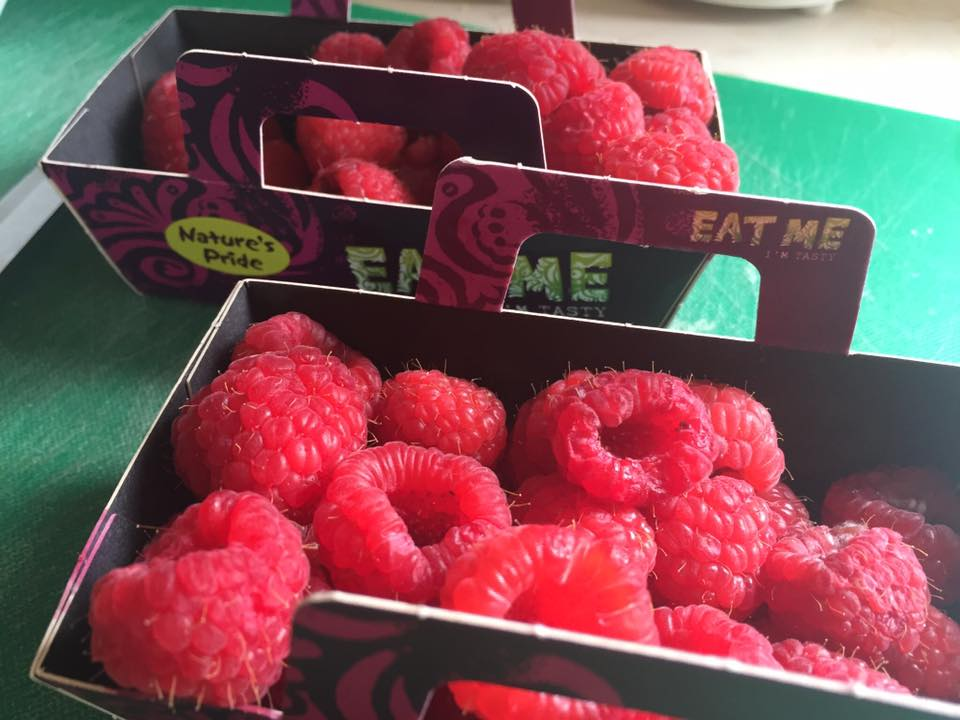 Raspberries without single-use plastic