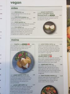 Wagamama UK Vegan Menu