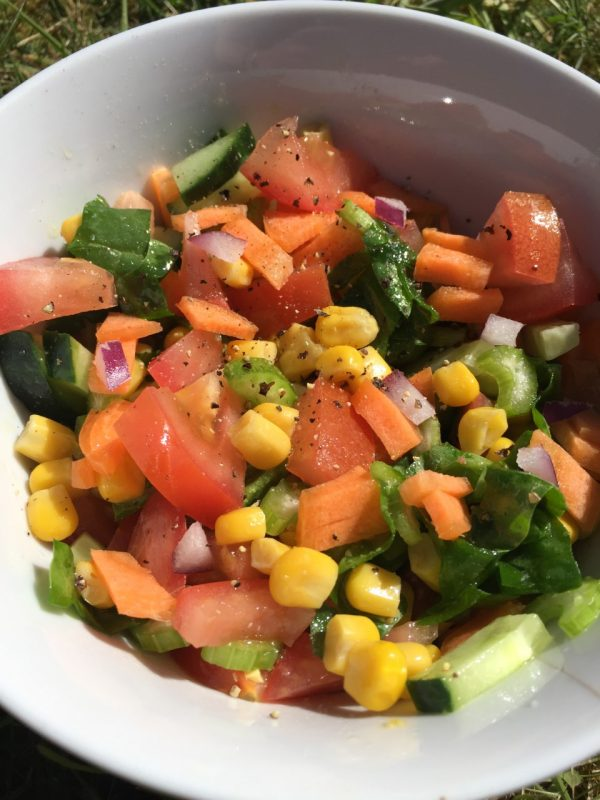 Vegan Rainbow Salad Recipe by The Natural Essex girl